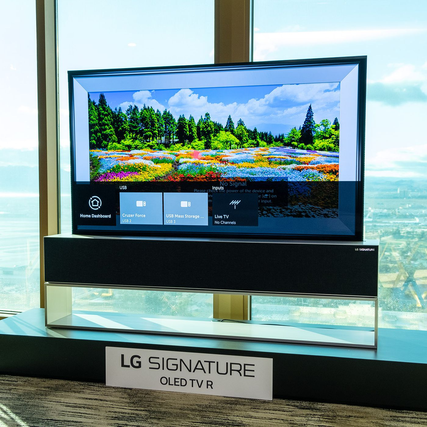 LG's groundbreaking roll-up TV is going on sale this year