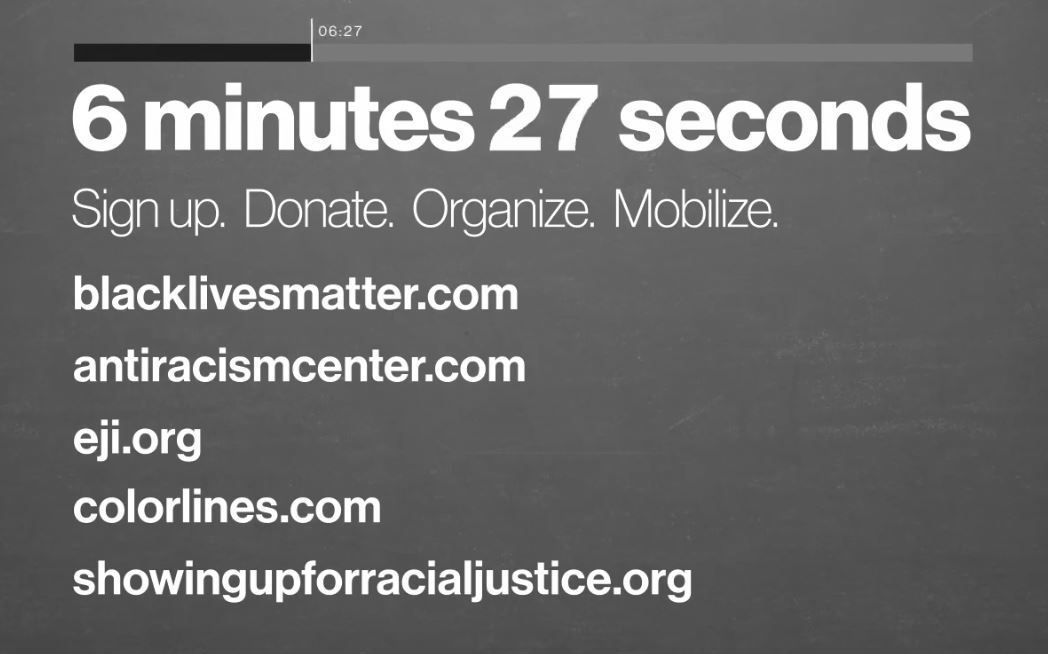 6:27 — Sign up. Donate. Organize. Mobilize.