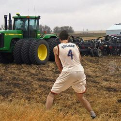 Nothing runs like a Deere, and nothing takes a charge like Nick Collison.