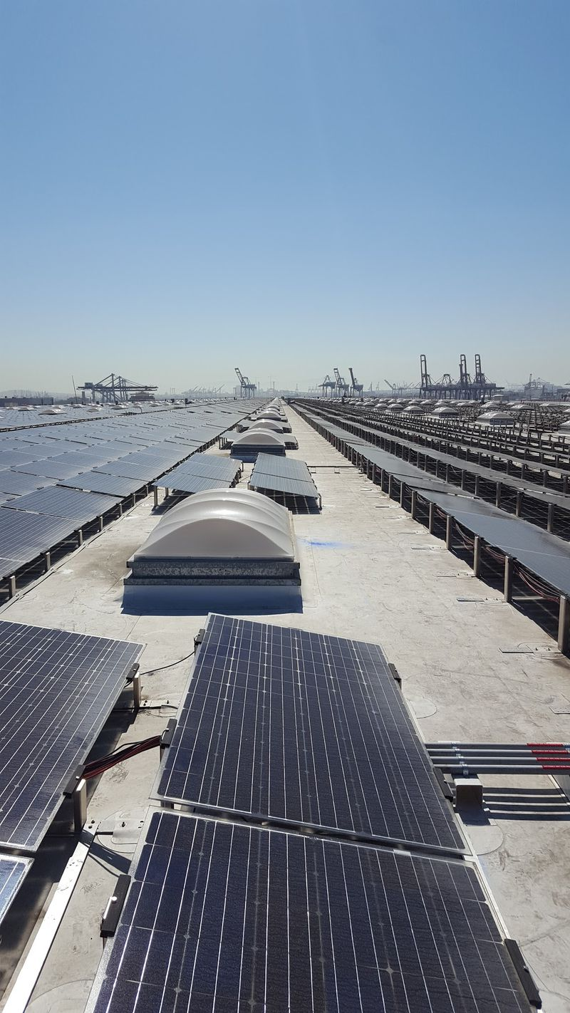 Rows of solar panels