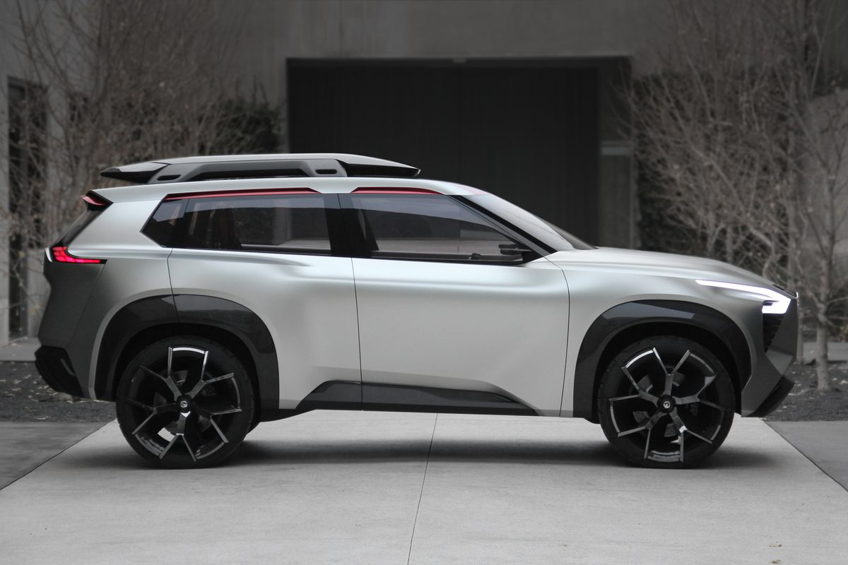 Nissan unveils boxy concept SUV filled with screens, Japanese cedar at NAIAS