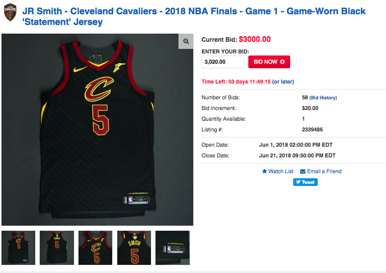 6c5d25066491 The NBA has put an array of NBA Finals game-worn apparel up for sale