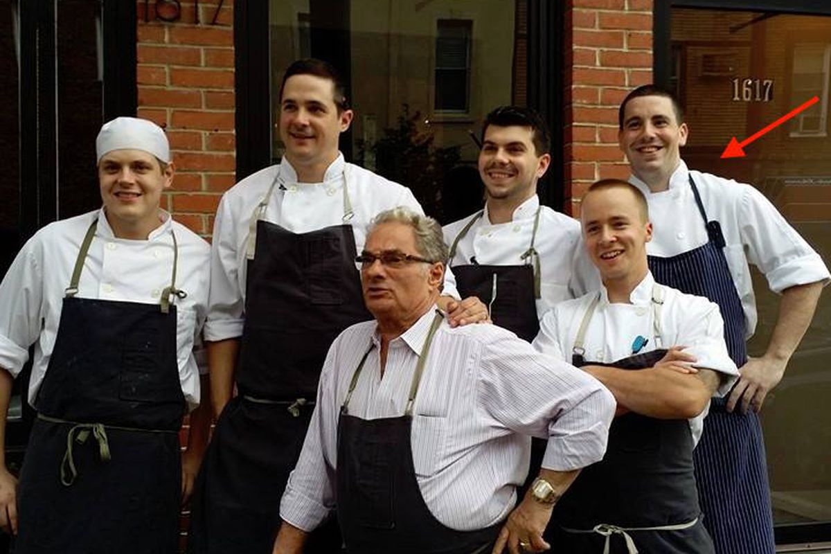 From left to right: Mark Hennessy (Helm), Nick Elmi (Laurel, ITV), Georges Perrier, Eddie Konrad (Laurel, ITV), Tyler Boell, Geno Betz