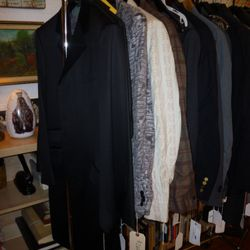 Jackets and a few suits hidden in there