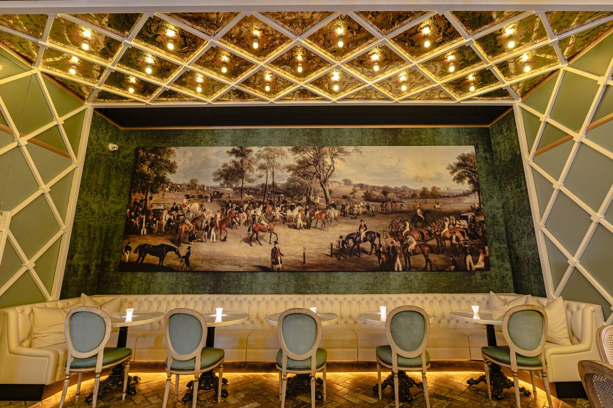 The dining room at Wolfie's Carousel Bar