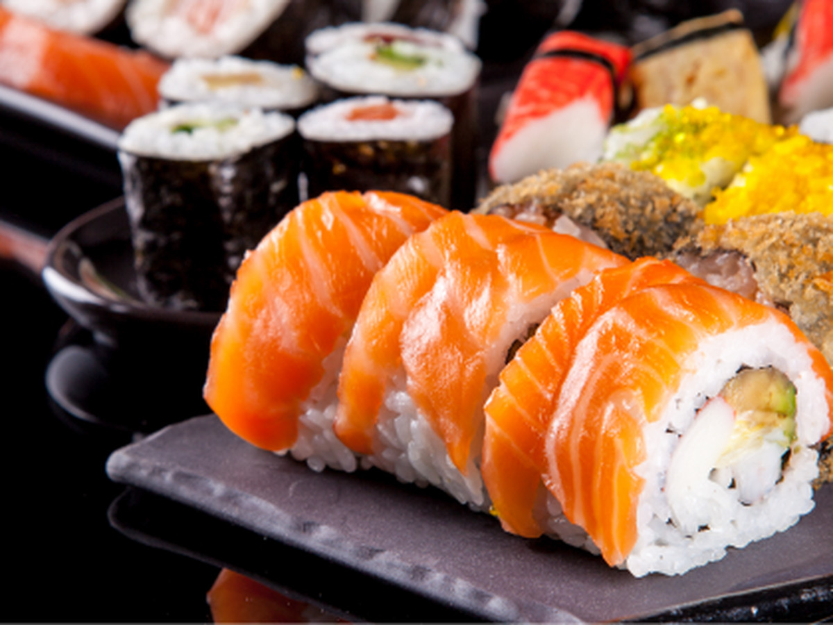 Platters of sushi