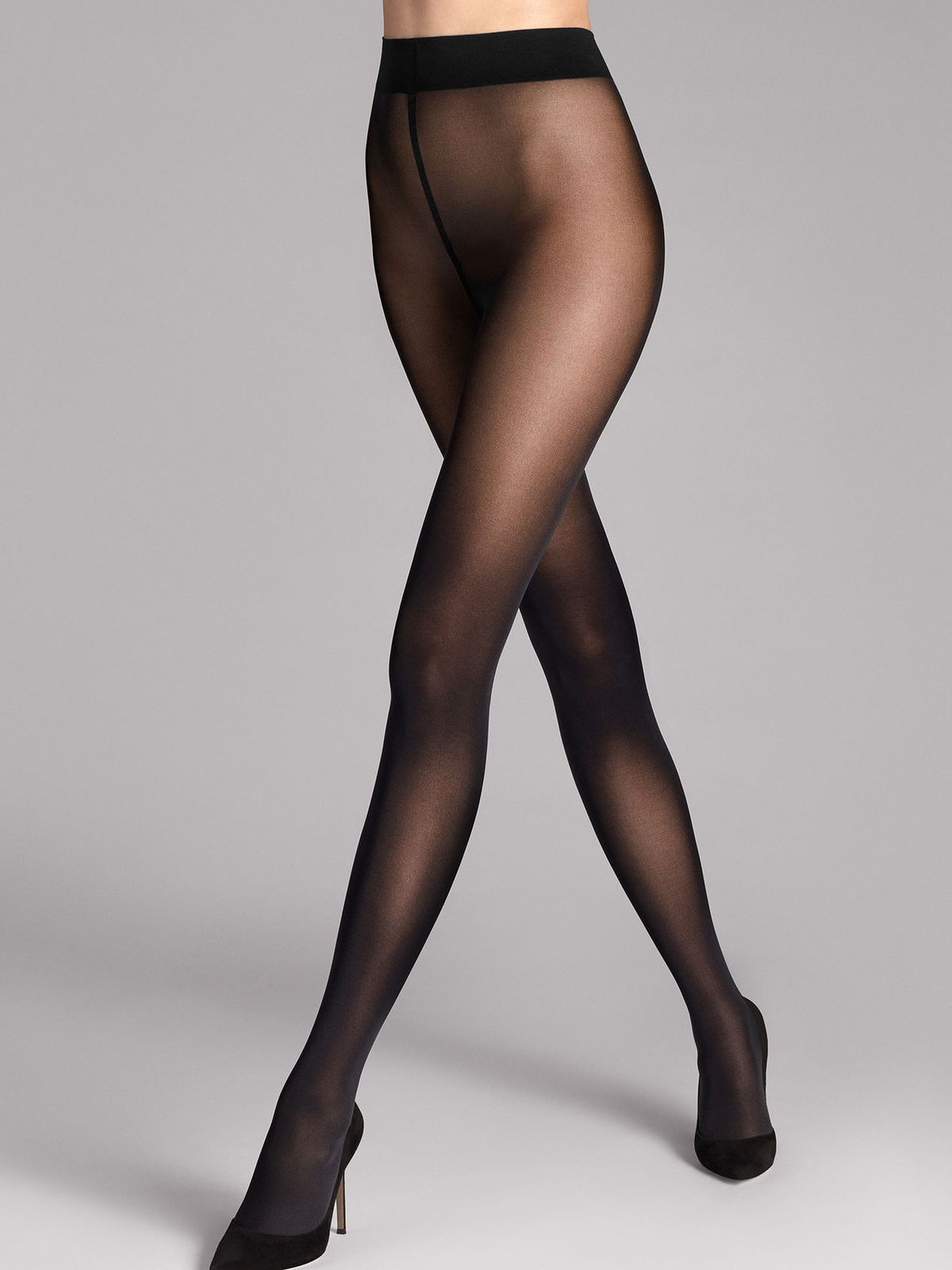 A model in Wolford tights.