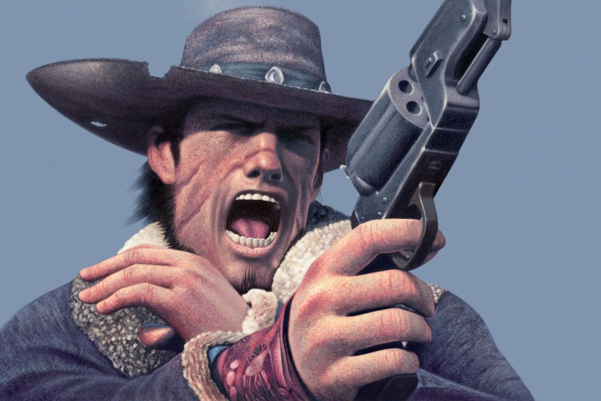 Box art detail from 2004's Red Dead Revolver, the progenitor of Rockstar's Red Dead franchise