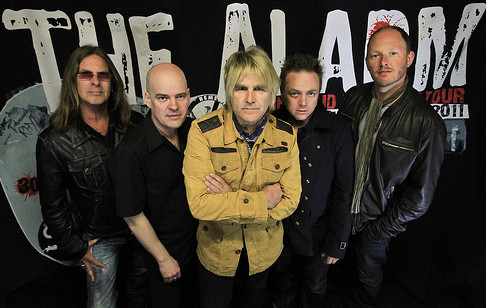 The Alarm: Mark Taylor (from left), Craig Adams, Mike Peters, James Stevenson and Smiley. | THEALARM.COM