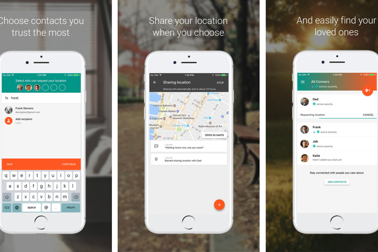 google s location sharing service goes cross platform unlike apple s
