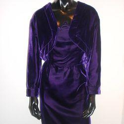 <b>Lanvin</b> Two-Piece Velvet Dress with Jacket, $295