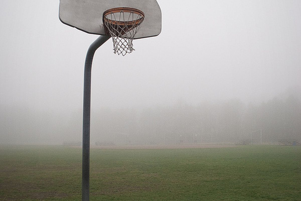 Some poetic line about the fog wrapping the basketball season to a quiet resting place. (Photo by Brit Linstrom)