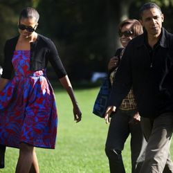 In <b>Sophie Theallet</b> while returning from Camp David in Washington D.C. on October 9, 2011