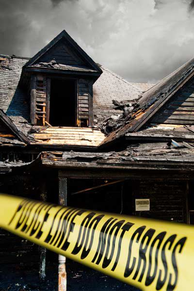 House Ruined After Fire