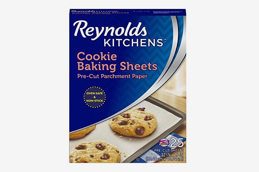 A box of Reynolds pre-cut baking sheets