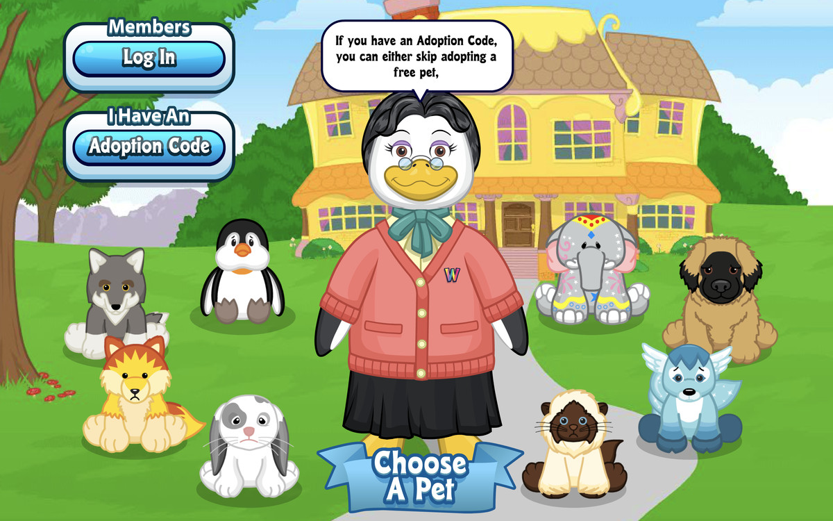 signing up for a new webkinz account