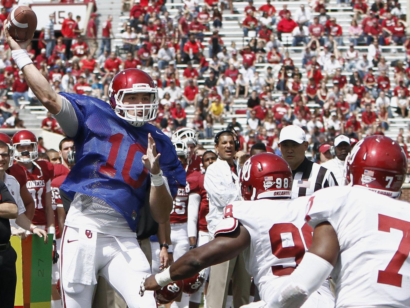 OU Football 2013   Red/White Game   Upon Further Review - Crimson ...
