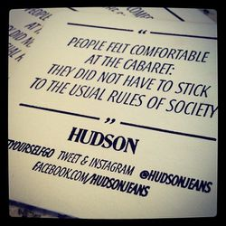 Clever idea: Hudson handed out social media cheat sheets for guests