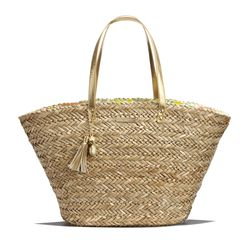 'Happy Place' straw tote, $30