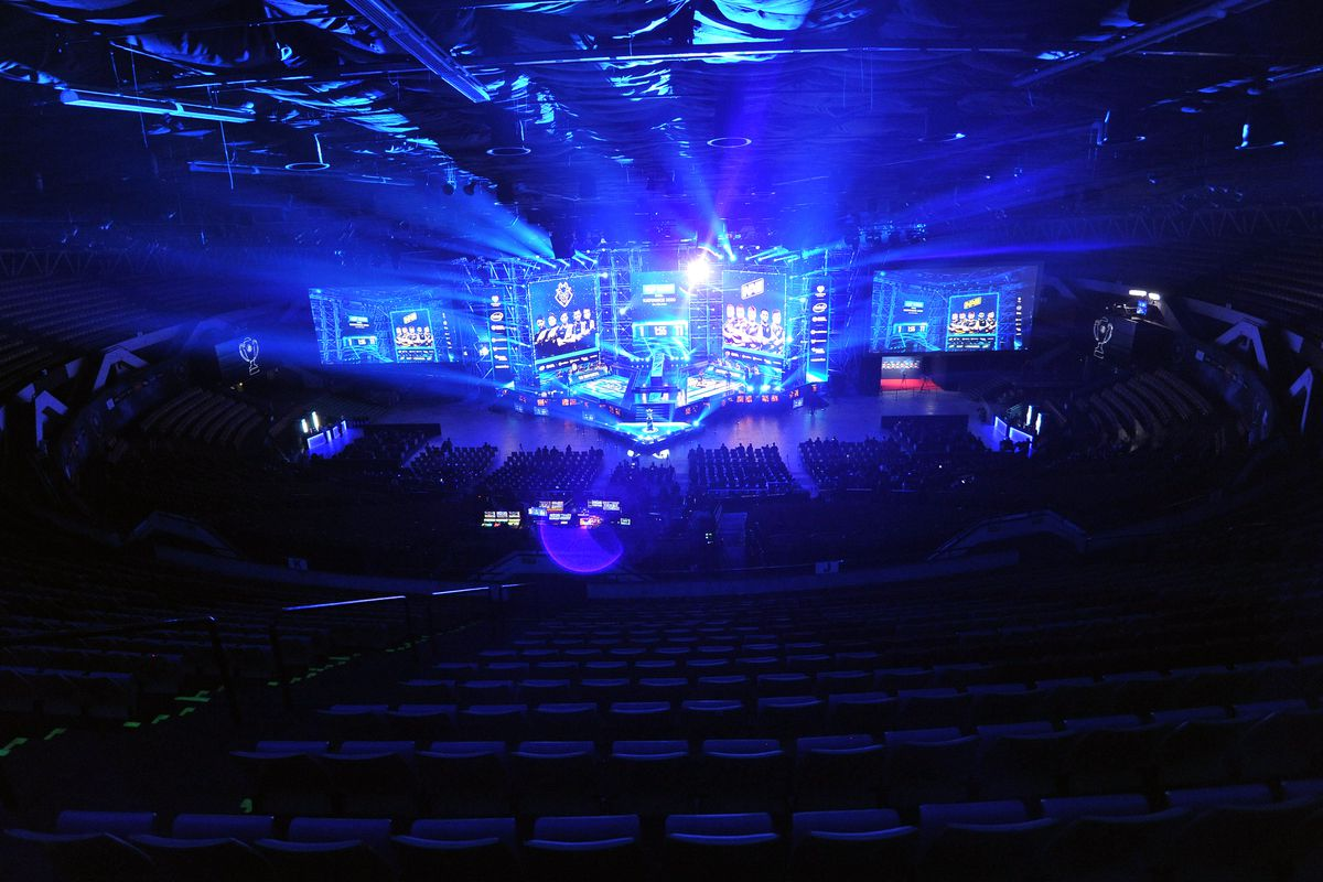The view of Spodek Arena during Counter-Strike: Global Offensive Final game between G2 Esports and Natus Vincere during ESL Intel Extreme Masters 2020 at Spodek Arena on March 1.