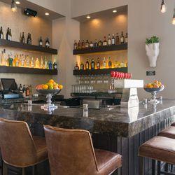 The upstairs bar at Hamptons