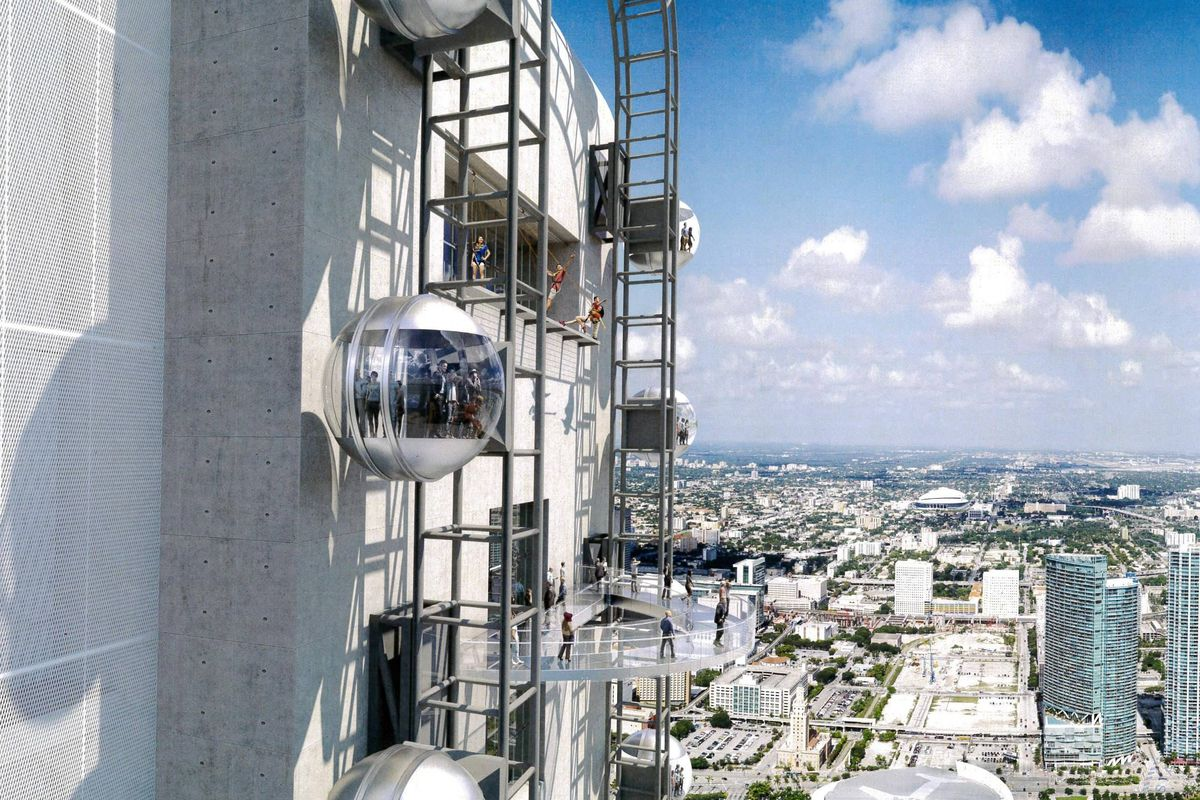 Skyrise Miami's main attraction includes rotating pods at