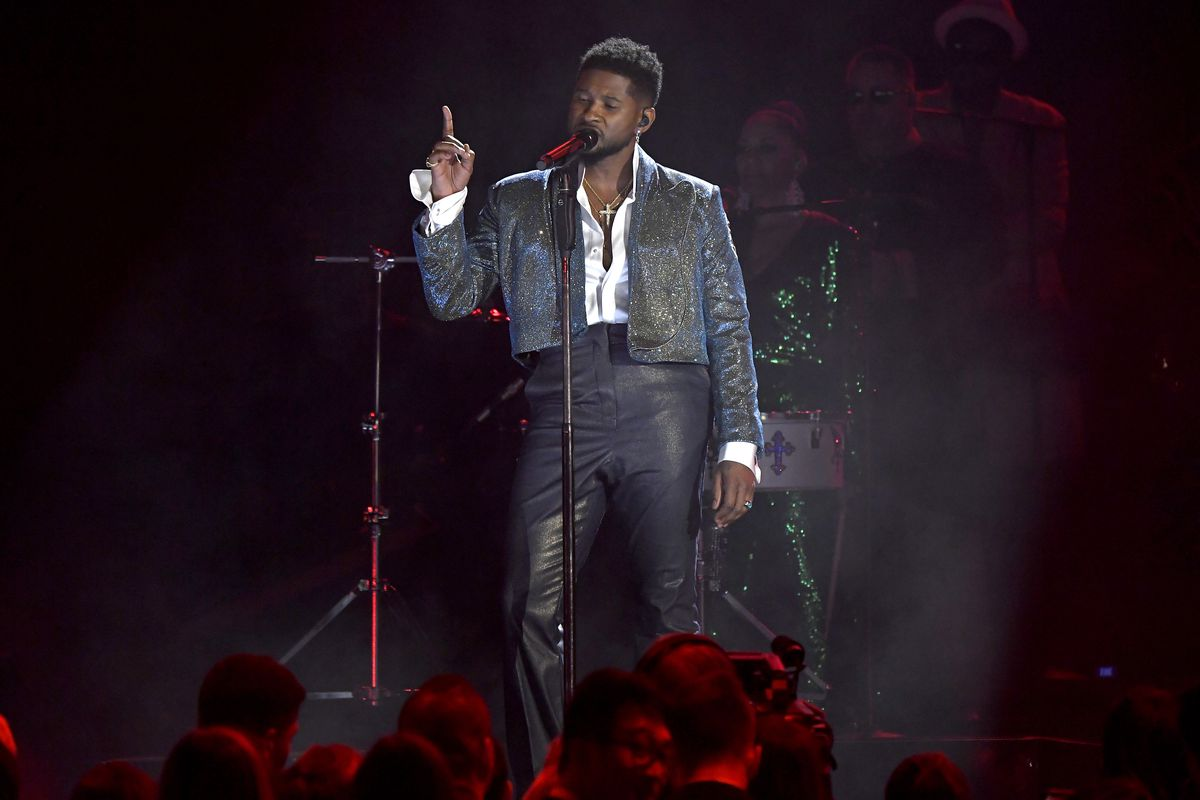 Usher performs onstage during the 62nd Annual Grammy Awards at the Staples Center in January.