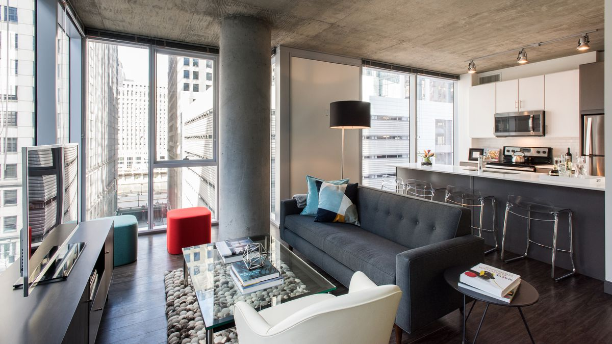 Inside the loop s new linea apartment tower curbed chicago for Apartment inside