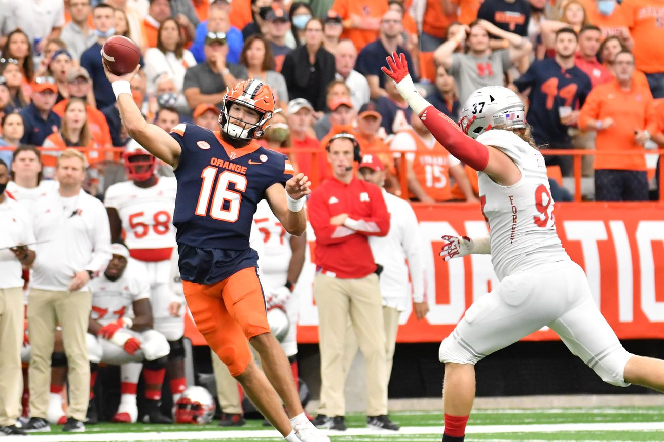 NCAA Football: Rutgers at Syracuse