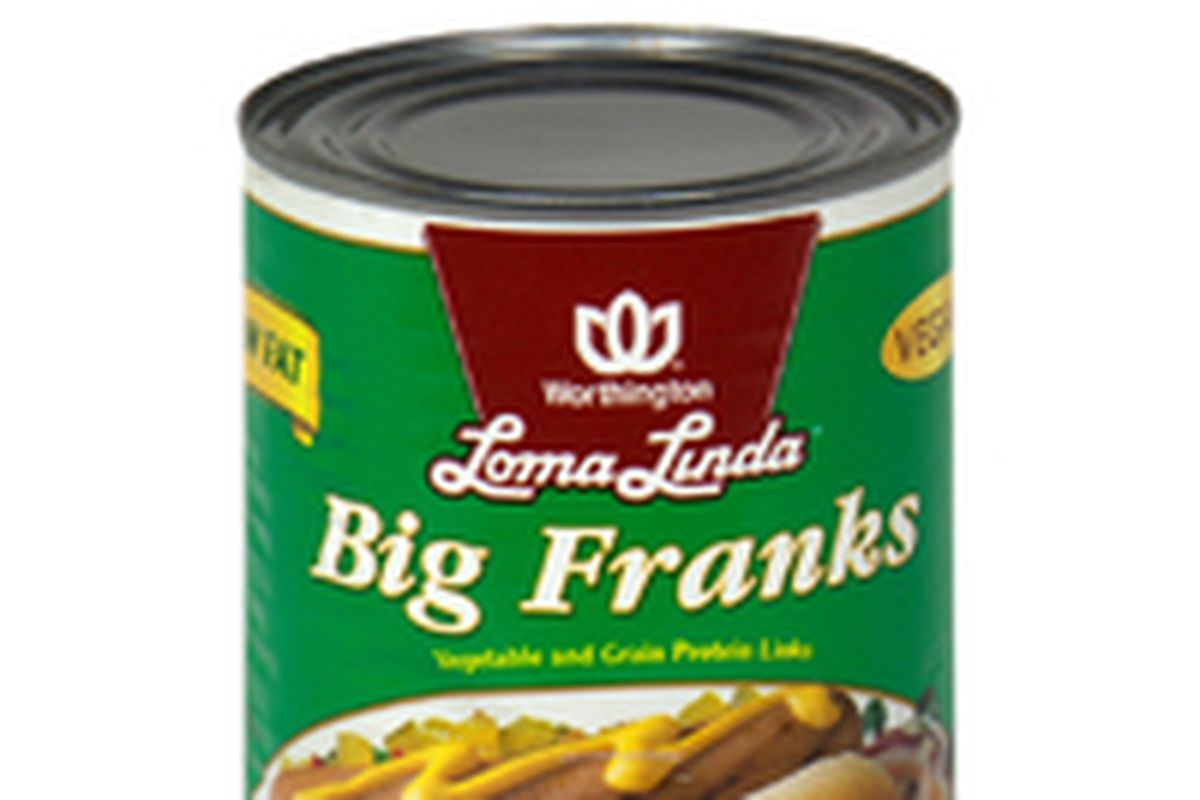 Hot dogs in a can.