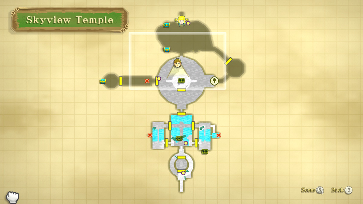 The location of a Heart Container in The Legend of Zelda: Skyward Sword