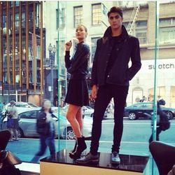 """Models at Nespresso, photo via <a href=""""http://instagram.com/justinjamison_"""">@justinjamison_</a>"""