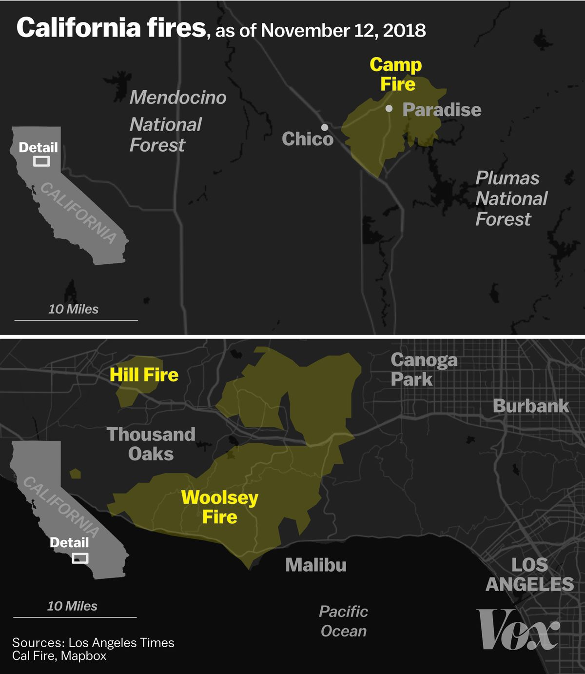 Northern California Fire Map 2018.California Wildfires 2018 Camp And Woolsey Fires Are Rapidly