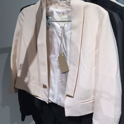 Cropped blazer, $150