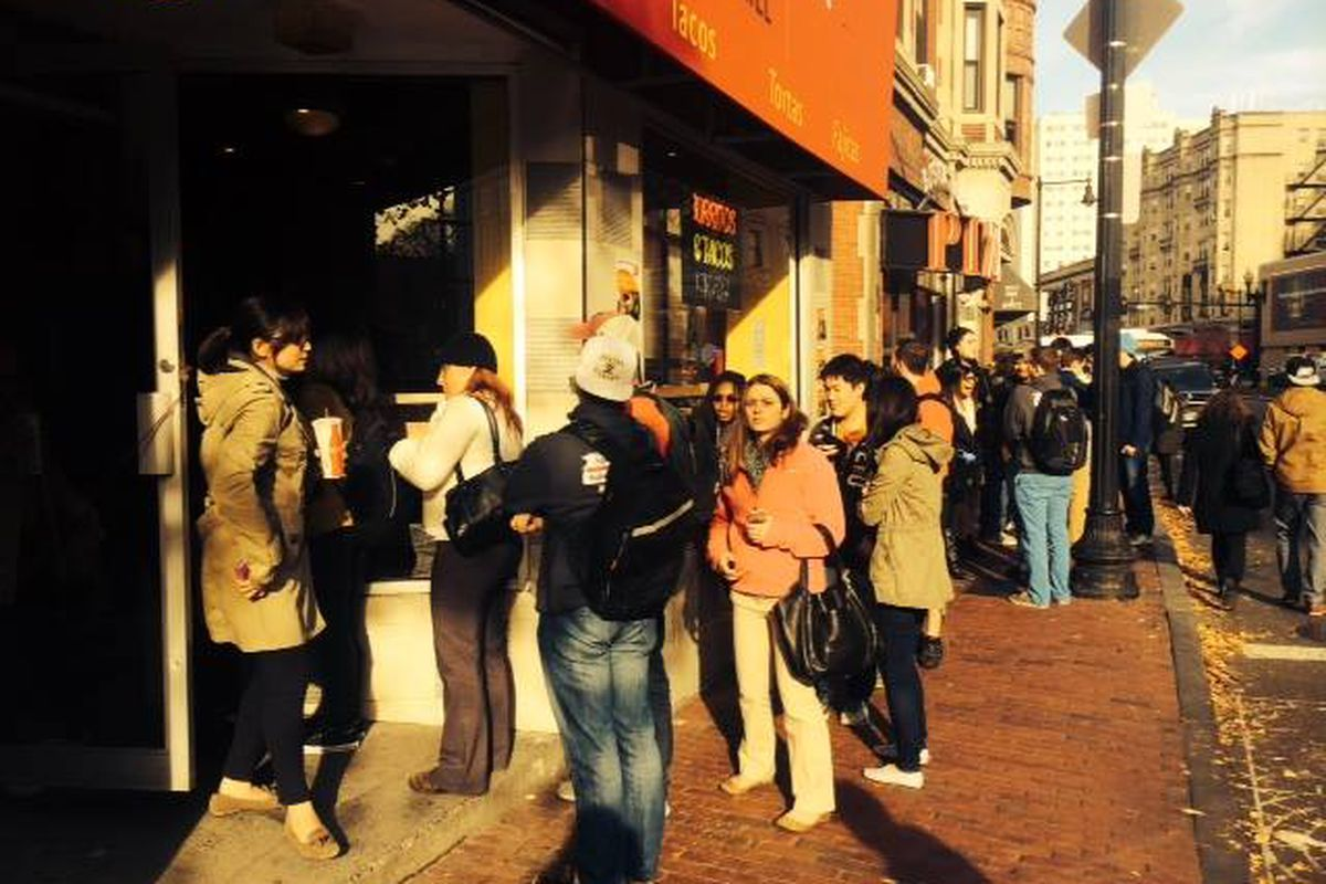 The lines formed early and stayed late at Amelia's new location on Huntington.