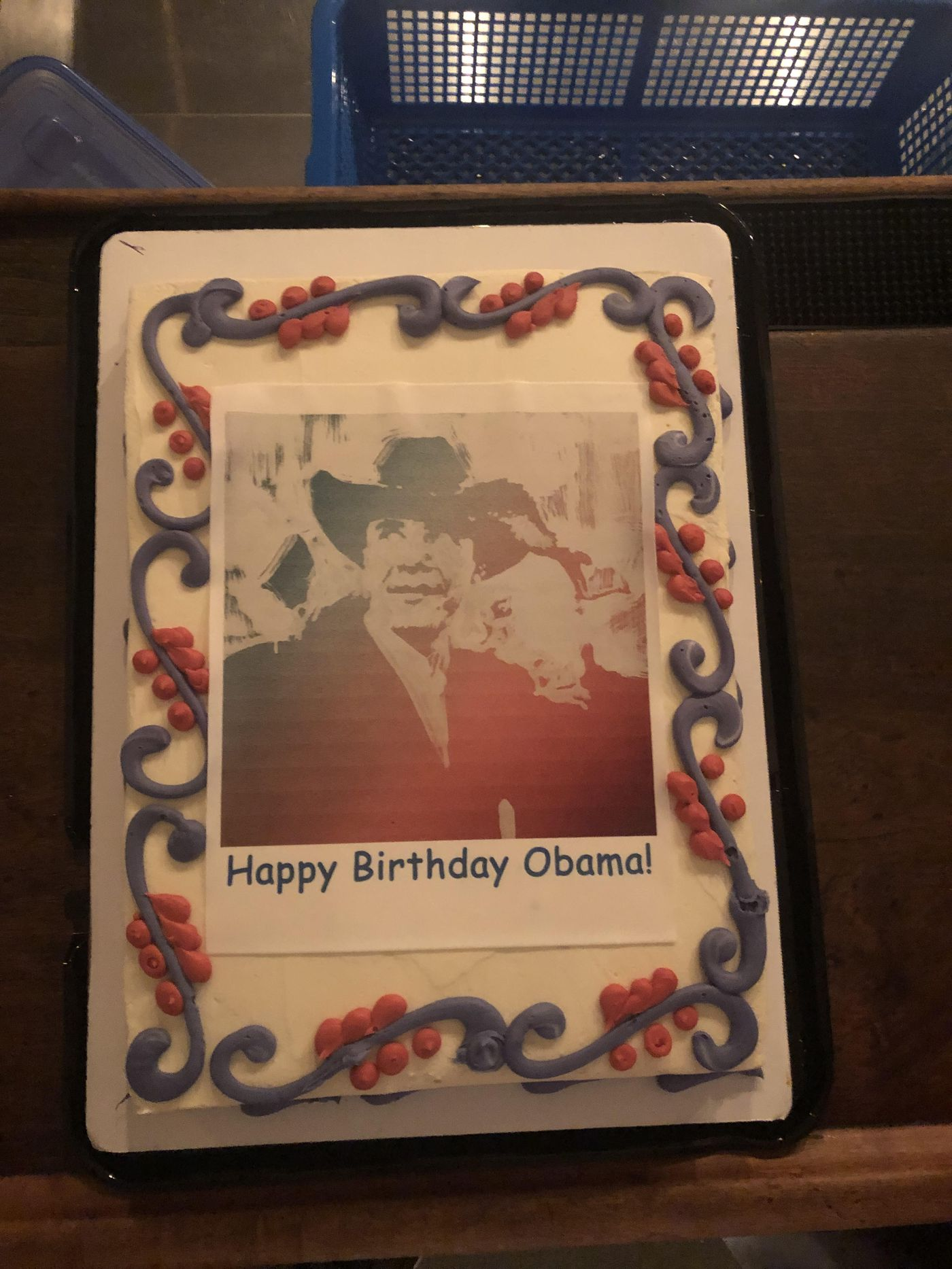 Groovy Obama Birthday Party On South Side Features Thousands Of Paintings Funny Birthday Cards Online Inifodamsfinfo