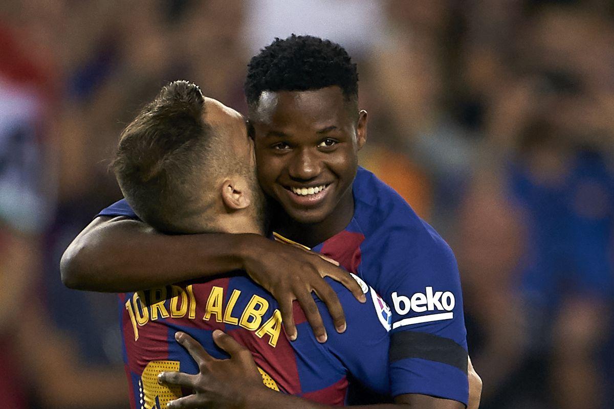 Jordi Alba, Ansu Fati train with Barcelona ahead of Sevilla clash