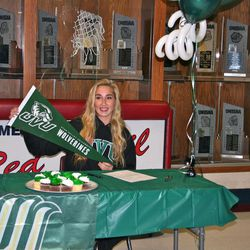 McKayla Montgomery signed to run track for Utah Valley University.