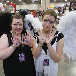 Mindy Allen and Lauren Leatham attend Comic Con at the Salt Palace in Salt Lake City Thursday, April 17, 2014.