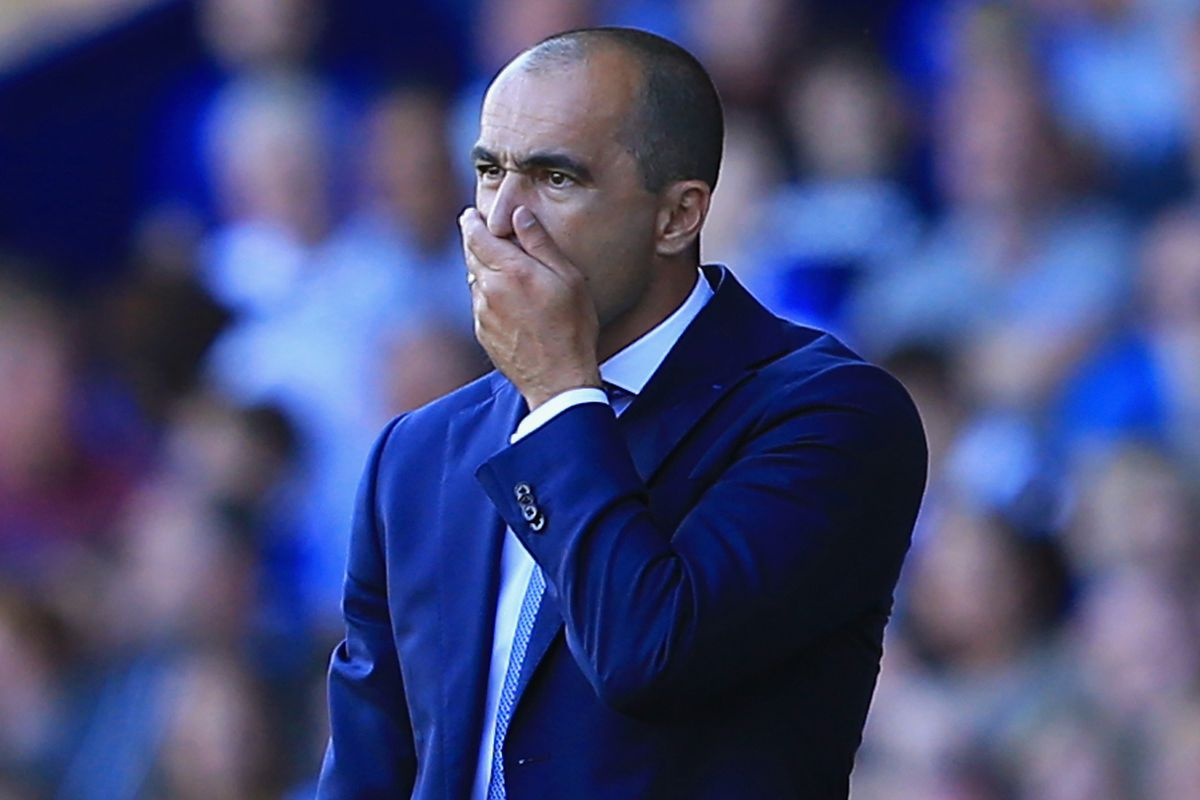 Roberto Martinez makes the face that most Everton supporters were making for the first 75 minutes on Saturday's match.