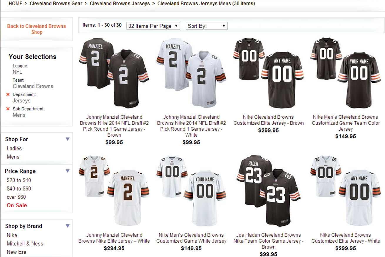 ... Theres no Brian Hoyer jersey on the Browns team store - SBNa Mens  Washington Redskins Nike White Customized ... 3aa231855