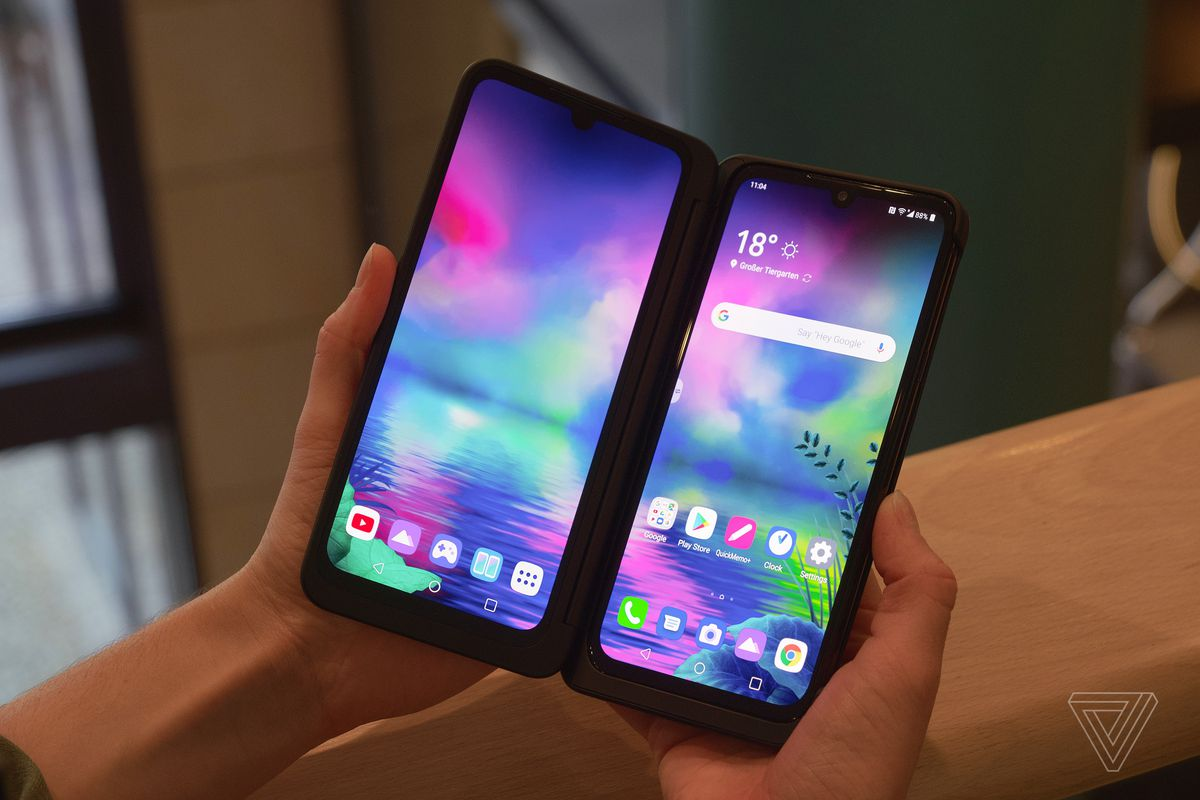 Lg S New G8x Thinq Bets That Two Screens Are Better Than A Foldable One The Verge