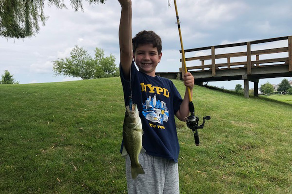 Jeremy Riley holds his biggest fish, caught and released. Provided photo