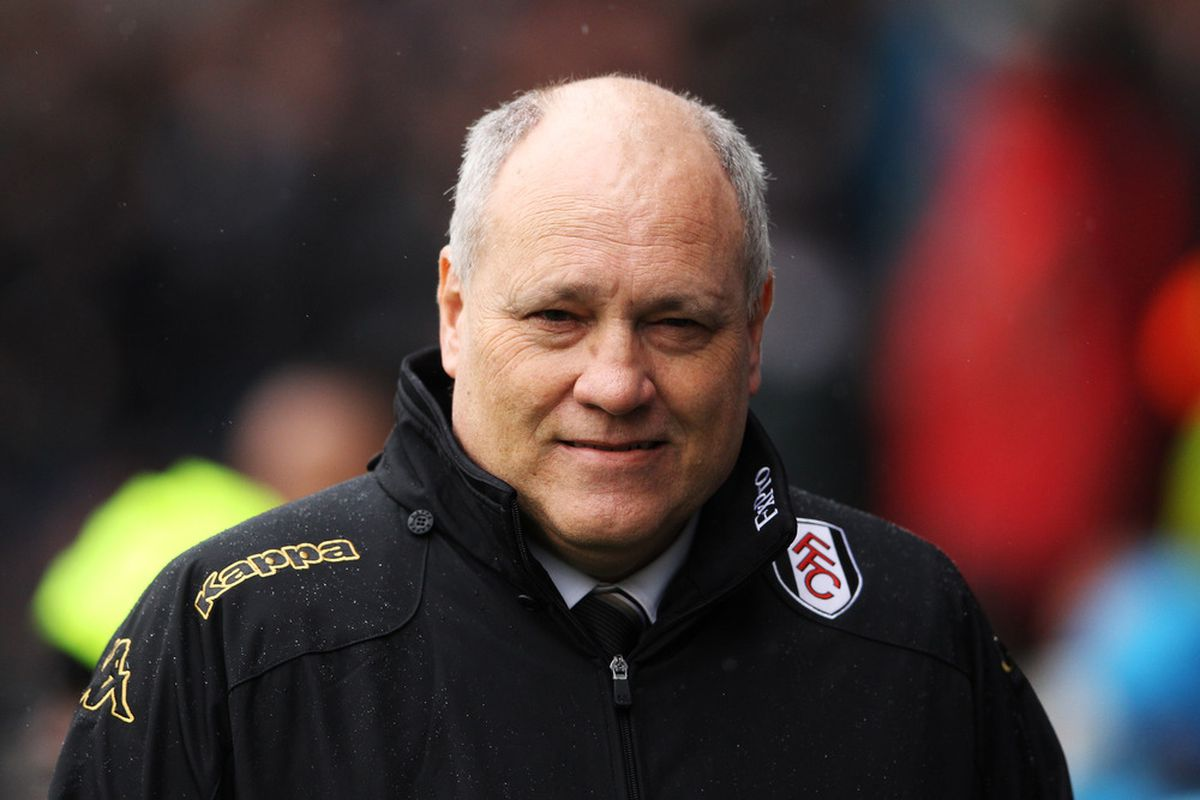 LONDON, ENGLAND - MARCH 04:  Fulham manager Martin Jol looks on prior to the Barclays Premier League match between Fulham and Wolverhampton Wanderers at Craven Cottage on March 4, 2012 in London, England.  (Photo by Scott Heavey/Getty Images)