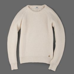 """Armor Lux fisherman's sweater in nature, originally $212, final sale price, <a href=""""http://www.millmercantile.com/Armor_Lux_Fishermans_Sweater_in_Nature_11110.html"""">$76</a>"""