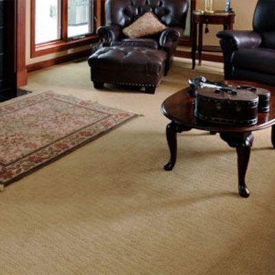 Wool carpet on living room floor.