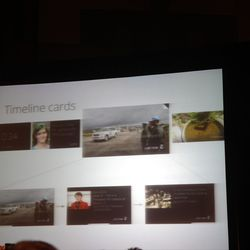 Google Glass timeline cards