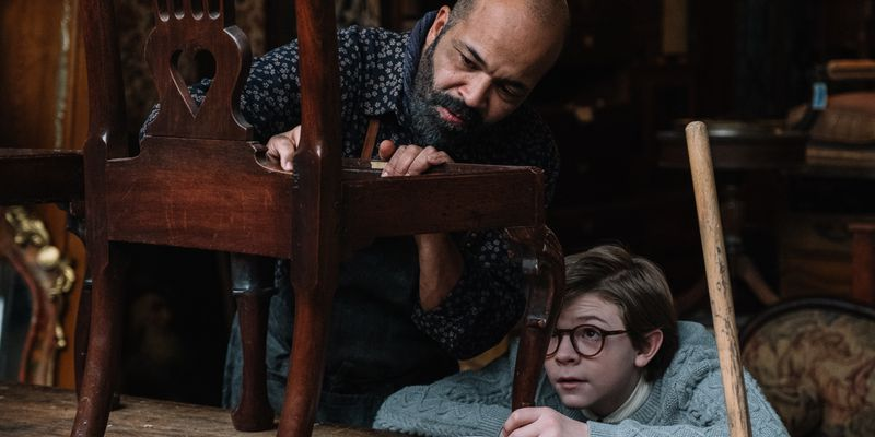 Jeffrey Wright and Oakes Fegley in The Goldfinch.