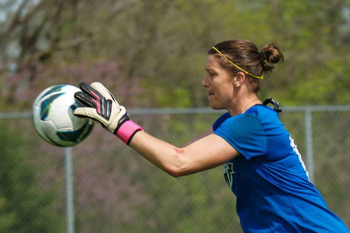 Goalkeeper Nicole Barnhart was one of six FC Kansas City players called into camp with the U.S. and Canada