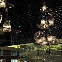 Glass decor at Bacchanal Buffet.